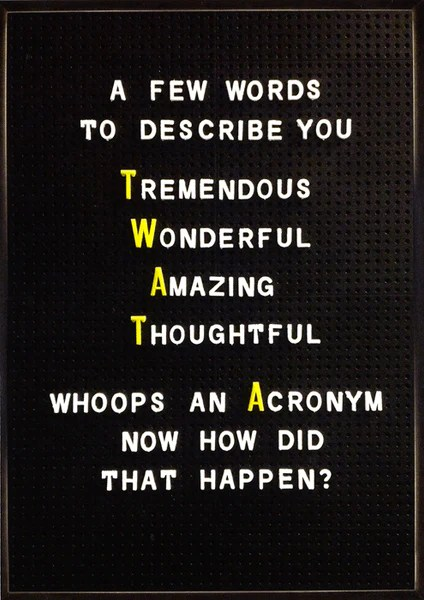 Funny Greeting Card Brainbox Candy Acronym Twat
