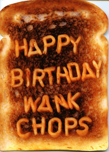 Rude Birthday Card Happy Birthday Wank Chops Comedy