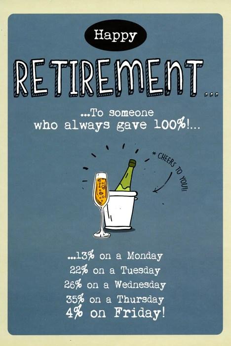 retirement always gave 100