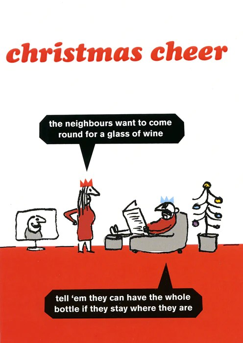 Funny Christmas Cards For Neighbours : funny, christmas, cards, neighbours, Humorous, Christmas, Neighbours, Round, Comedy, Company