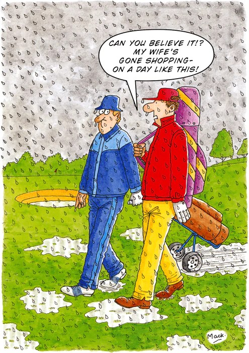 Funny Golf Birthday Card Rainbow Shopping On A Day Like This Comedy Card Company