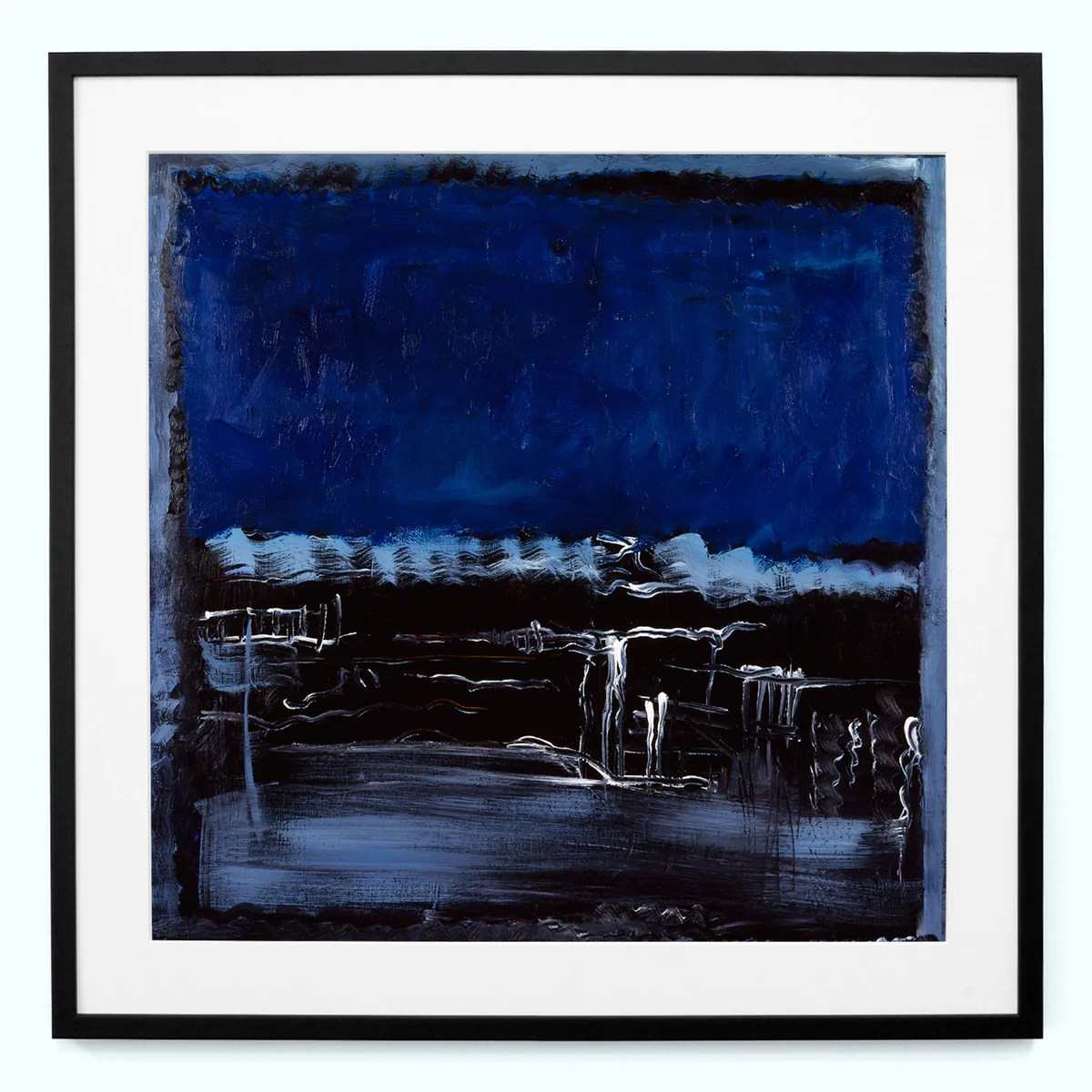 blue white black abstract