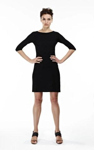 THE MCCARDELL 3/4 Sleeve Seamless Dress, Little Black Dress