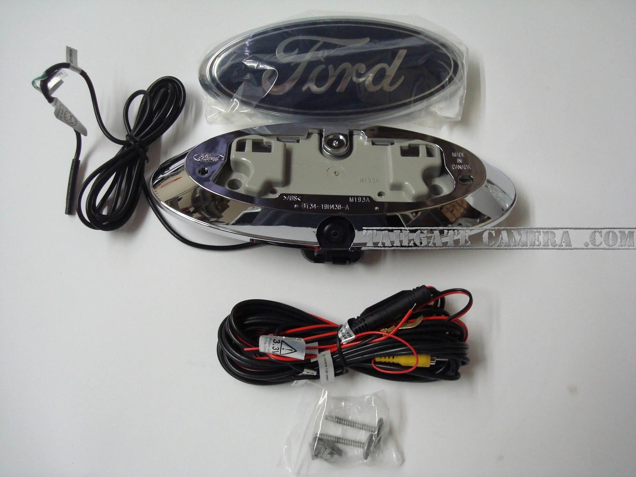 hight resolution of ford tailgate emblem back up camera backup camera