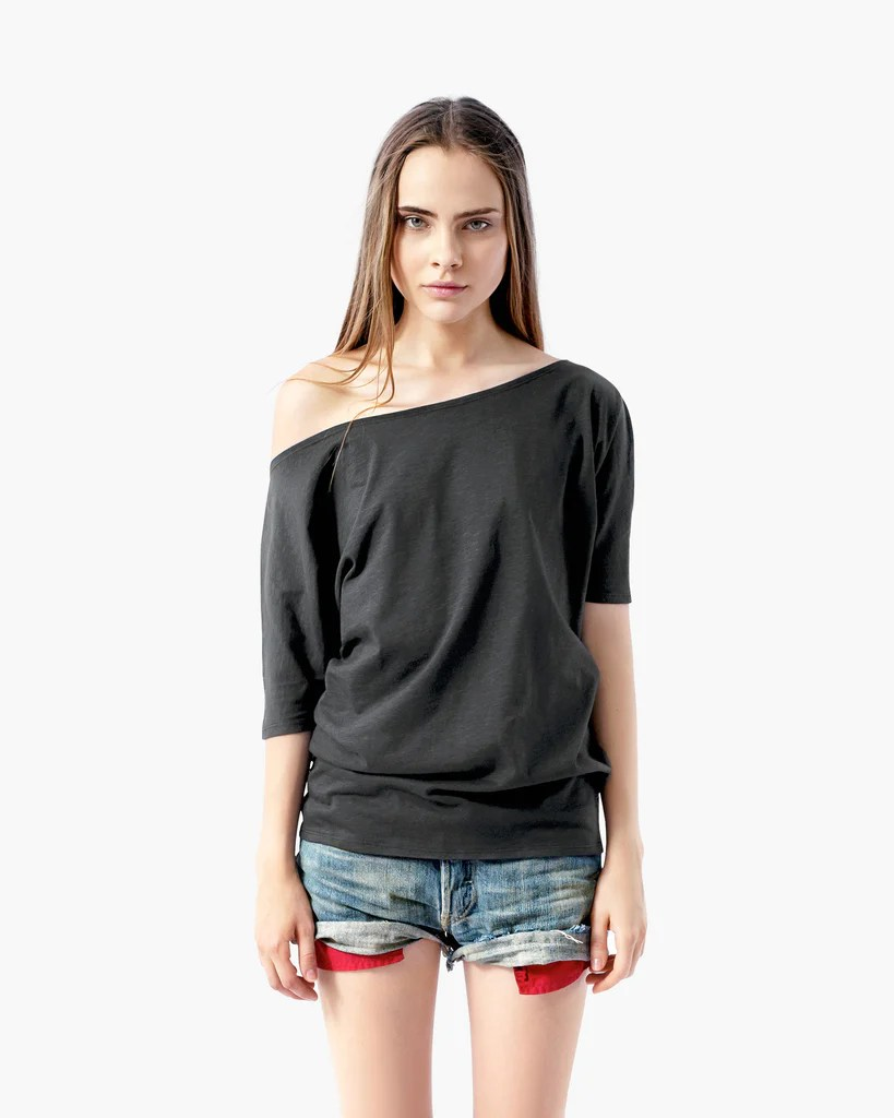 Cute T-Shirt Off the Shoulder Tops
