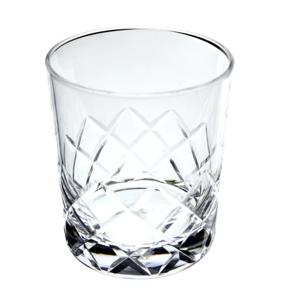 Hard Strong Diamond Cut Rocks Glasses  Umami Mart