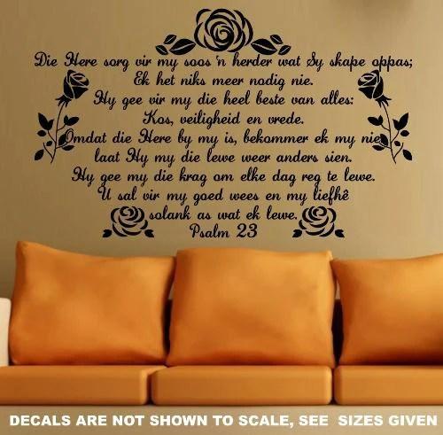 BYBEL VERS PSALM 23 AFRIKAANS INSPIRATIONAL BIBLE VERSE