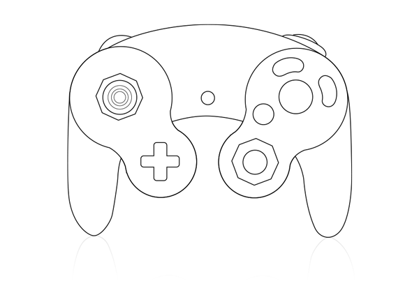 Back Of Ps3 Controller Coloring Pages