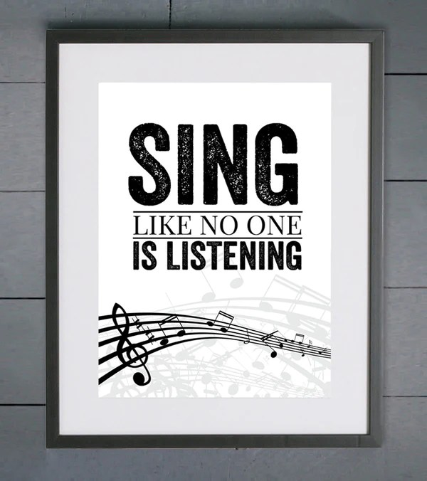 sing like no one