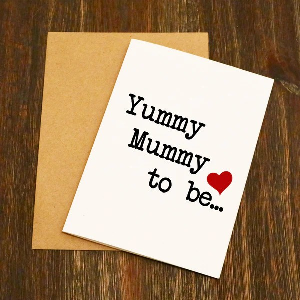Yummy Mummy To Be Greetings Card EllieBeanPrints