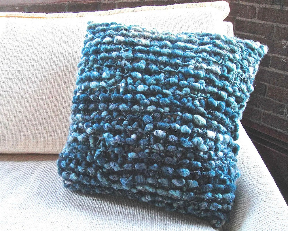 Knit Collage Cozy Cocoon Pillow Case Pattern
