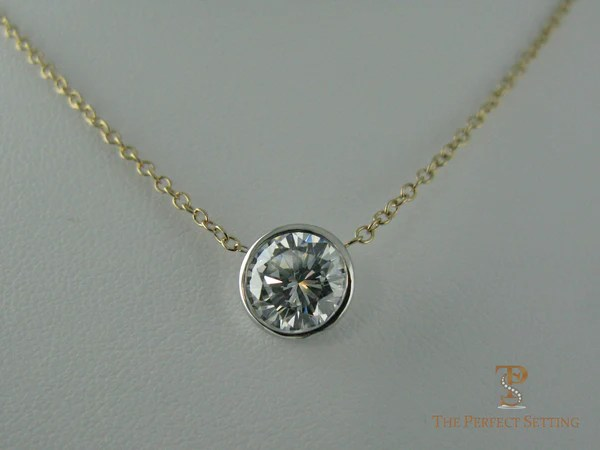 Bezel Set Diamond Solitaire Necklace The Perfect Setting
