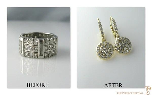 Resetting  Diamond Disc Earrings  The Perfect Setting