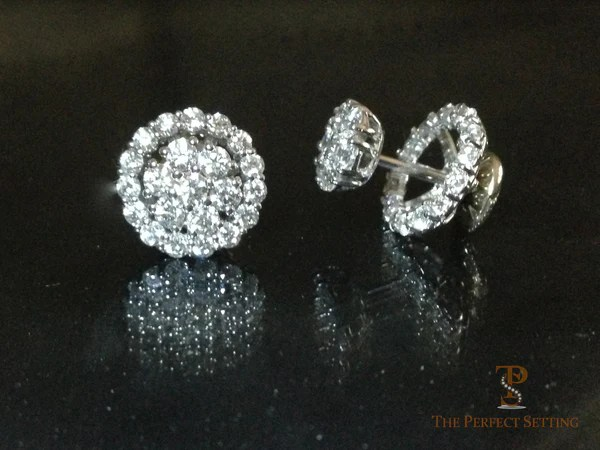 Diamond Stud Halo Earrings  The Perfect Setting