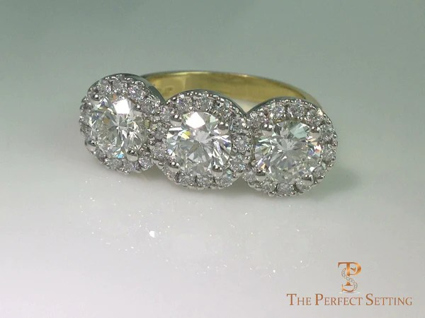 Halo Ring With Wedding Band