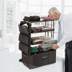 Portable Kitchen Cart Floating Shelves Shelfpack - Closet Suitcase – Ckie