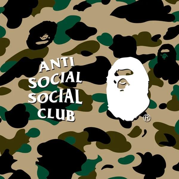 Bape Camo Wallpaper Iphone X A Bathing Ape 174 X Anti Social Social Club Us Bape Com