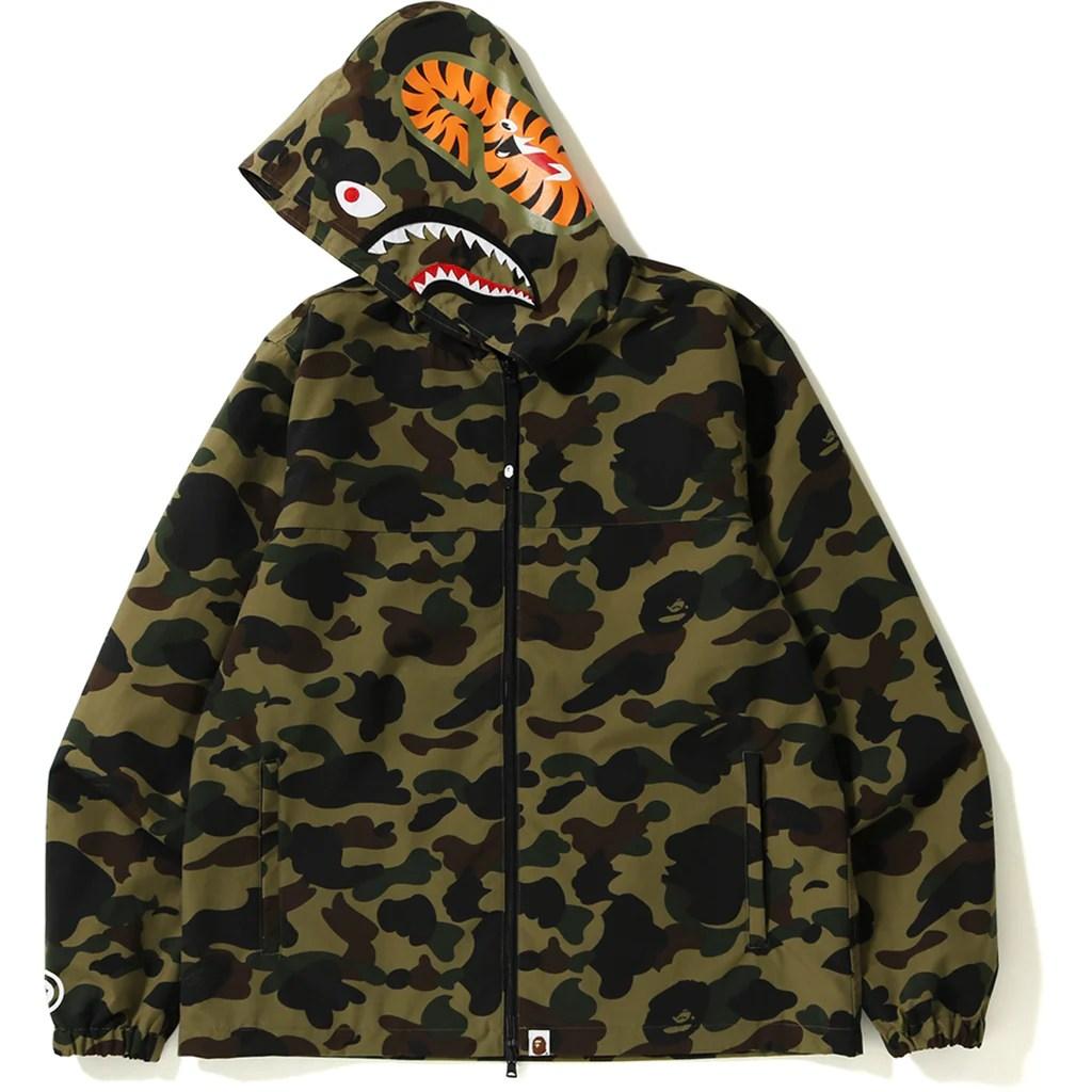 1st camo shark hoodie