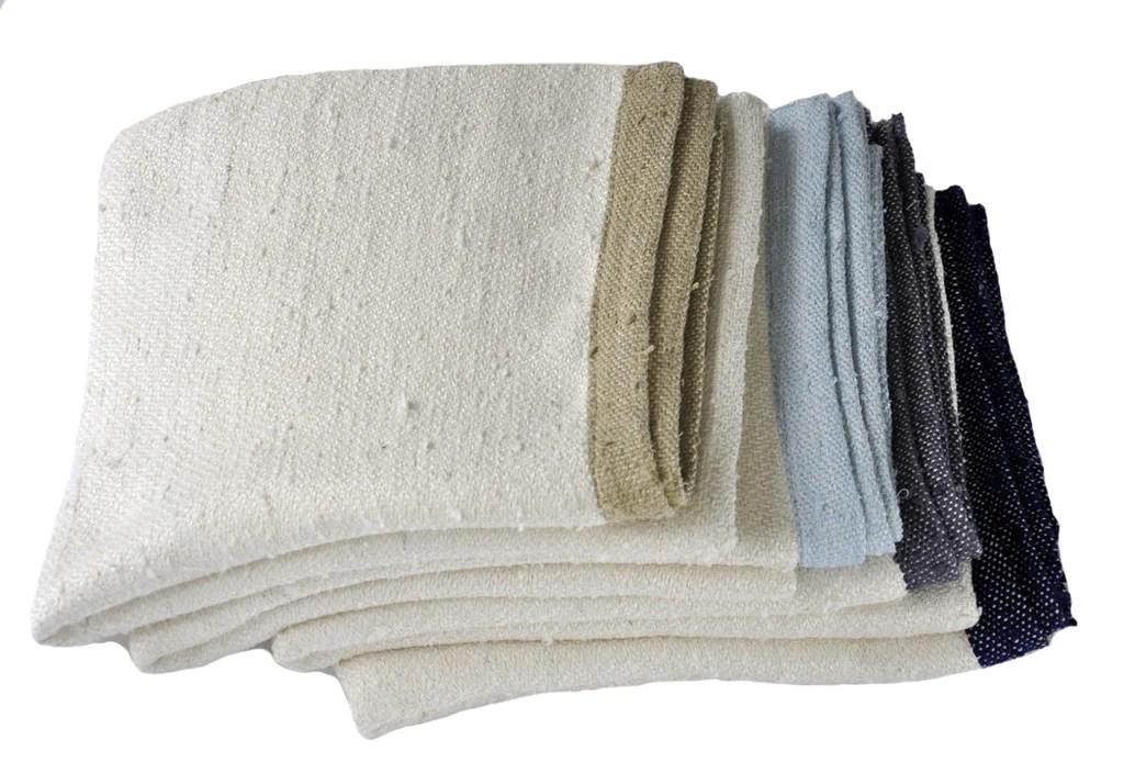 Grey Raw Silk Throw Blanket  Homelosophy