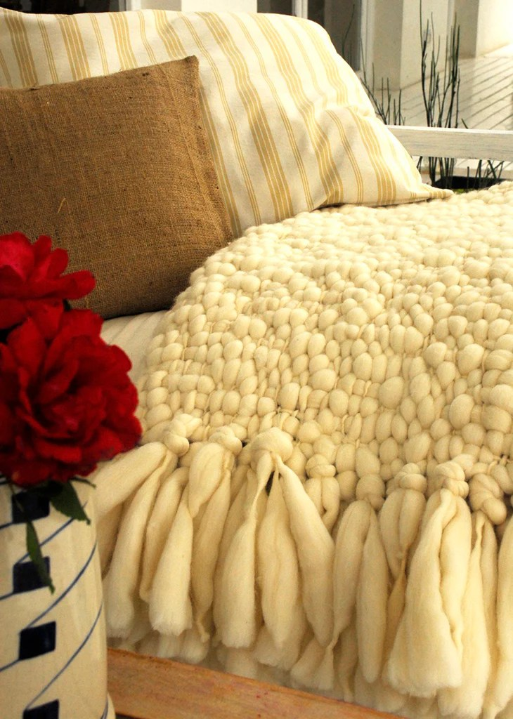 Chunky Knit Throw  Clouds Throw Blanket  Homelosophy