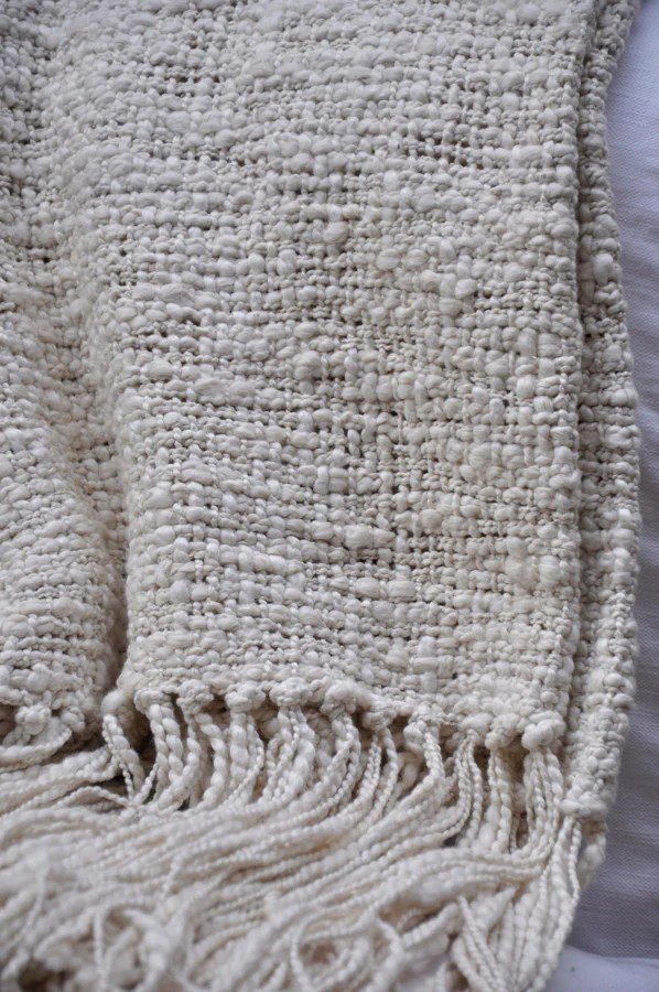 Textured Rustic Cotton Throw Blanket  Homelosophy