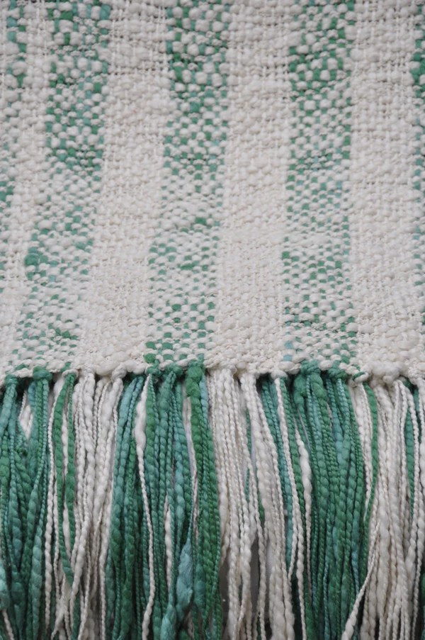 Cotton Throw Blanket  Green Rustic Stripes  Homelosophy