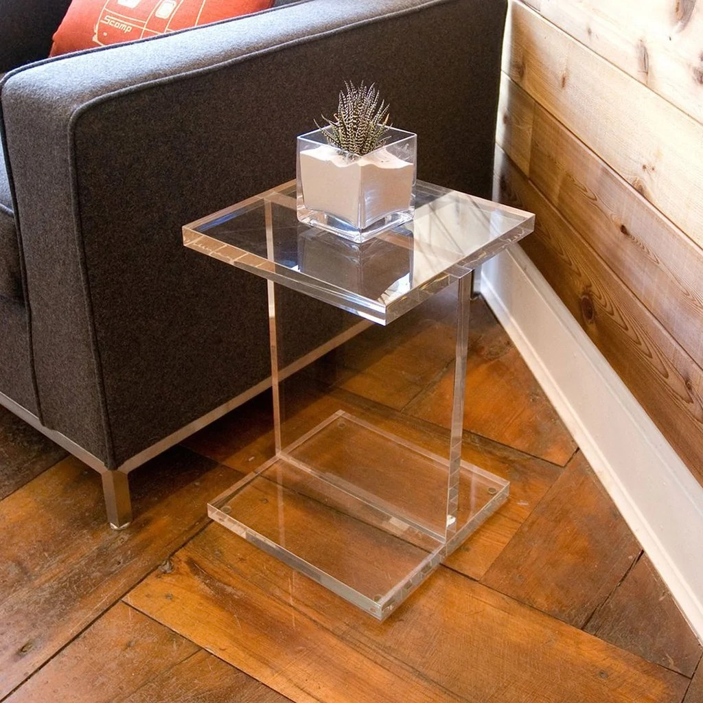 Acrylic IBeam Table  Accent Tables  Gus Modern