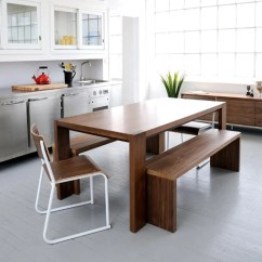 Bench For Kitchen Table Portable Outdoor Plank Dining Gus Modern Walnut