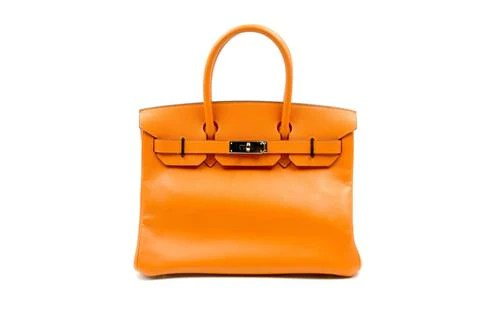 68103f19b93 Hermes 30cm Orange Birkin with Paladium Hardware