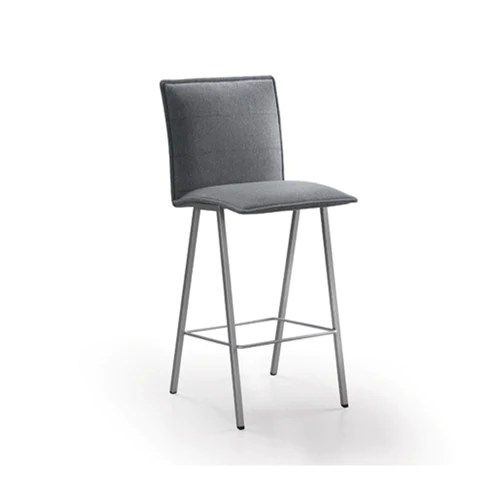 upholstered dining chairs canada chair covers kijiji edmonton grey modern fabric with powder coat metal legs