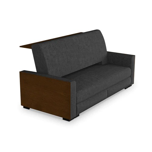 sofa befs in living area beds modern walnut finished grey fabric bed with bar