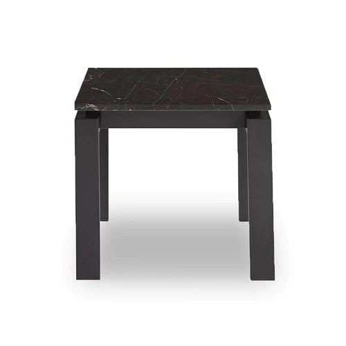 black living room tables french country style decorating ideas modern marble topped end side table with dark bronze base