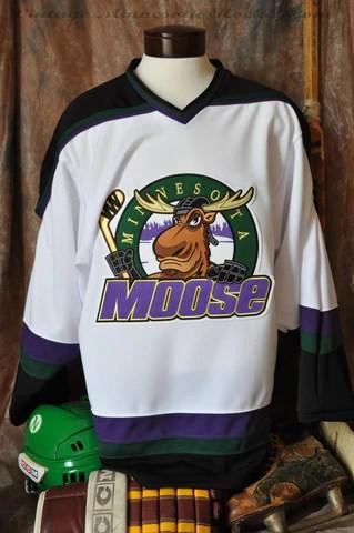 19941996 Minnesota Moose Home Hockey Jersey  Classic MN