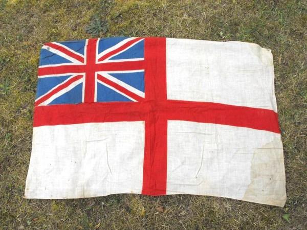 A British Vintage Royal Navy White Ensign Flag Doe Amp Hope