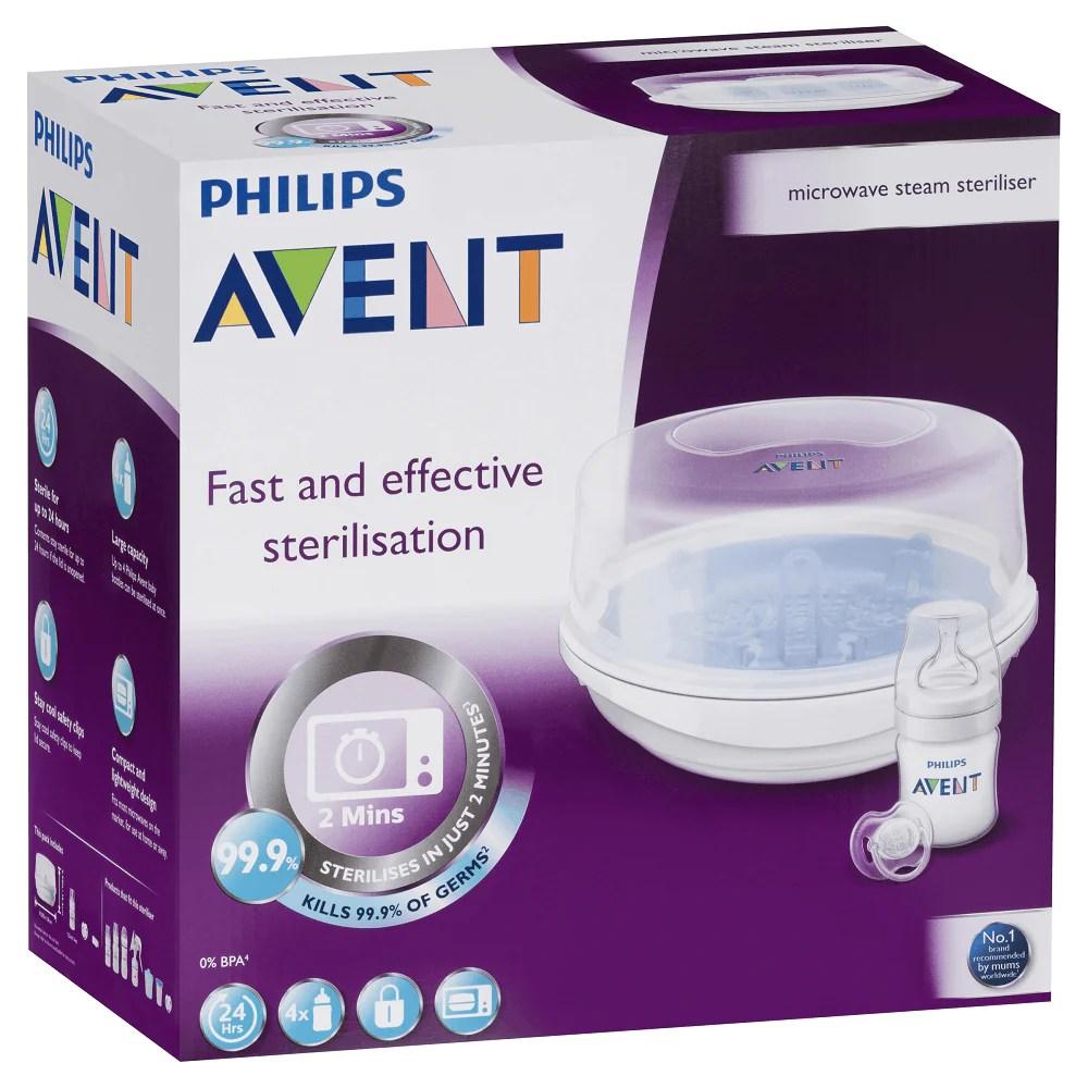 philips avent microwave steam steriliser set