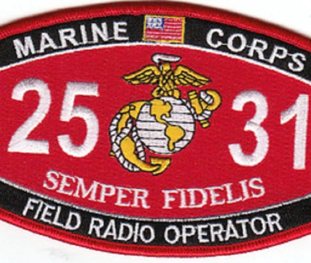 Usmc Field Radio Operator 2531 Mos Military Patch