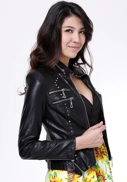 Vegan Leather Moto Jacket from Lookbook Store