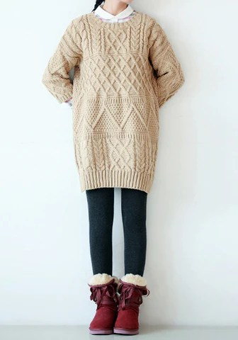 Crop Sleeves Splits Side Sweater from Lookbook Store