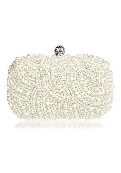 Glam Pearls Clutch from Lookbook Store