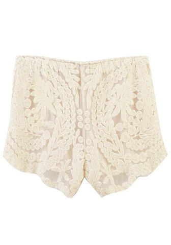 Apricot Crochet Lace Shorts