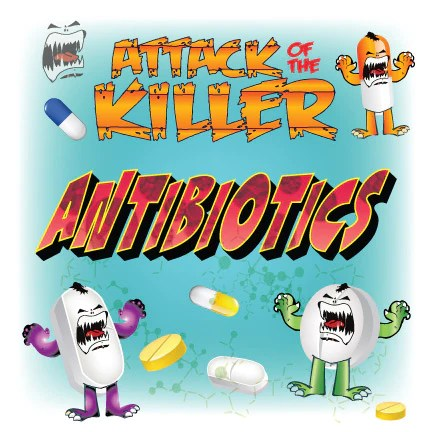 Anthropomorphized antibiotics on a rampage