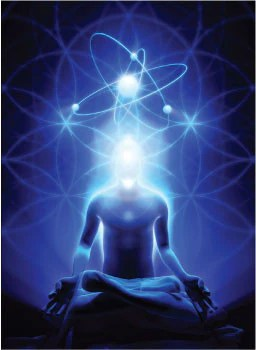Meditating, energetic man