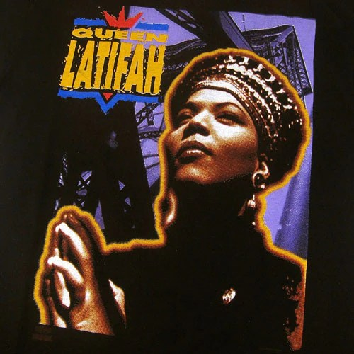 Vintage Queen Latifah 1991 T Shirt Hip Hop Rap 90s For