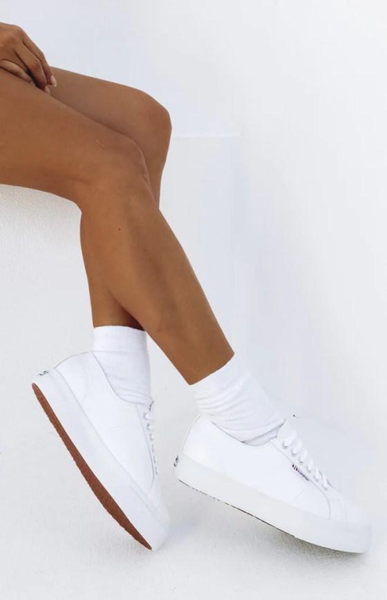 Superga 2730 NAPPA Leather Sneaker White 19
