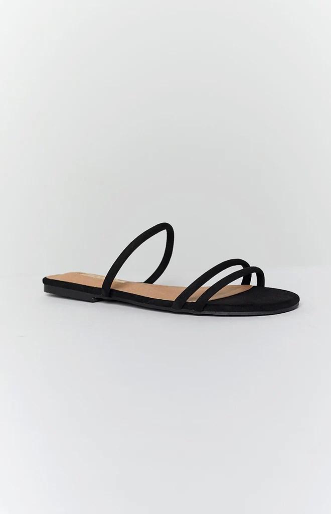 Billini Isla Sandals Black Suede 4