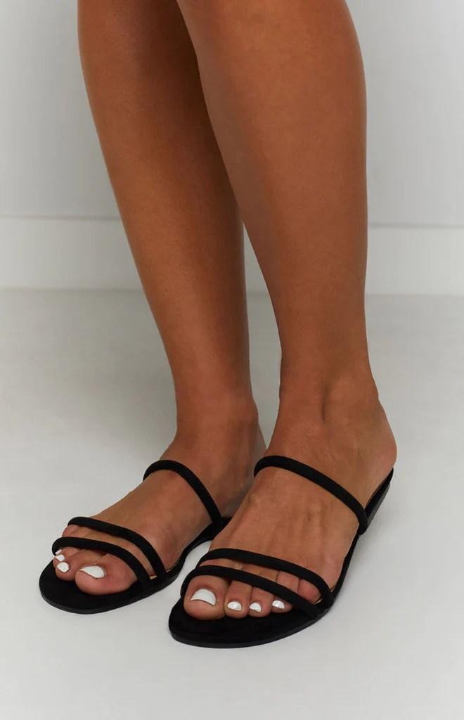 Billini Isla Sandals Black Suede 1