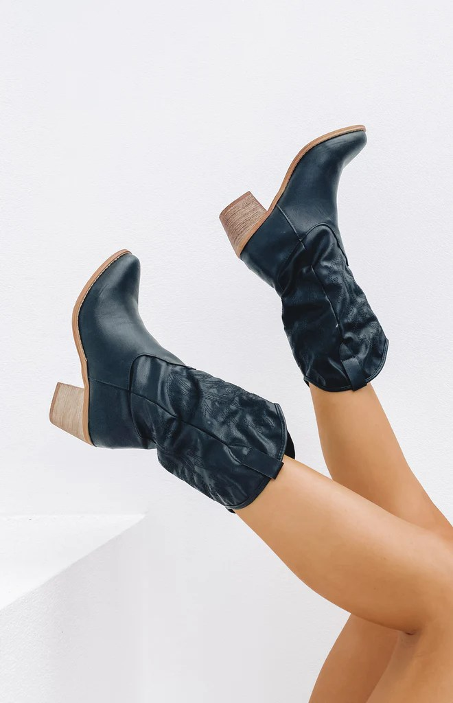 Saint Cowboy Boots Black 8