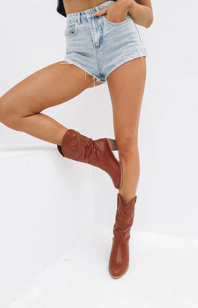 Saint Cowboy Boots Rust 8