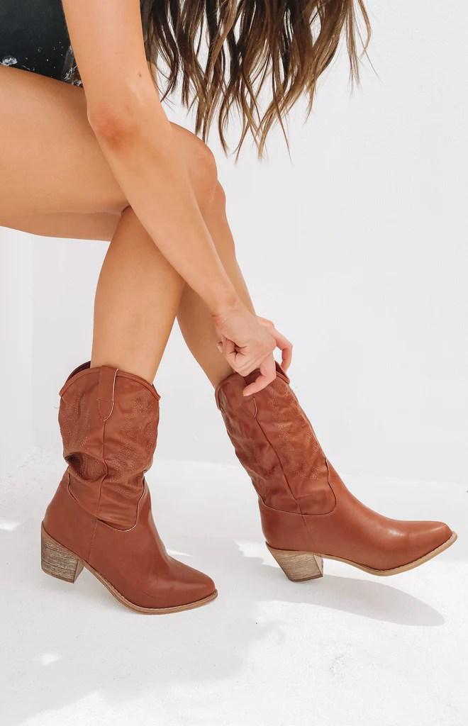 Saint Cowboy Boots Rust 10