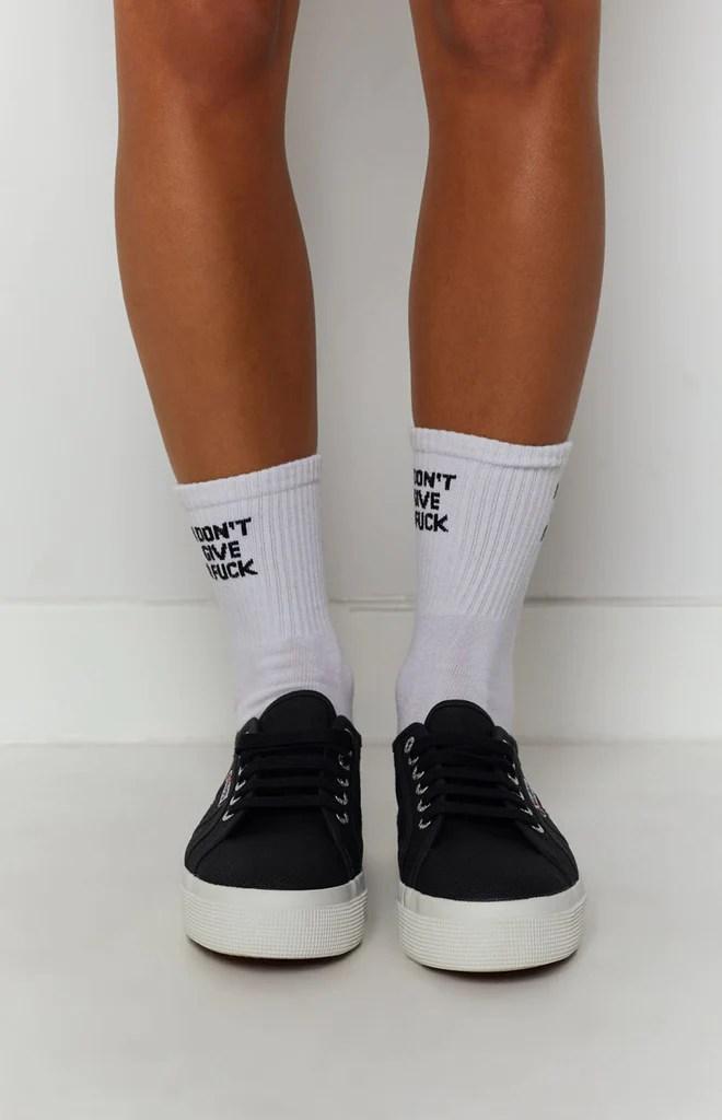 Superga 2730 COTU Canvas Sneaker Black and White 4